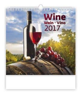 Nástěnný kalendář Víno - Wine 2017