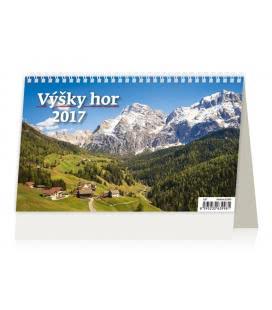 Stolní kalendář Výšky hor 2017