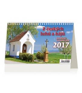 Stolní kalendář Z českých luhů a hájů 2017