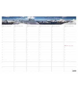 Table calendar Weekly planning Map A2 with Photos 2017