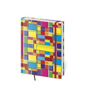 Diář týdenní B6 Vario s gumičkou - Cube 2017