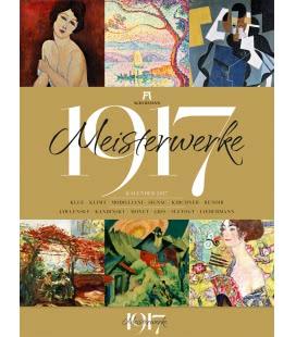 Nástěnný kalendář Mistrovská díla 1917 / Meisterwerke 1917 2017