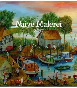 Wall calendar Naive Malerei 2017