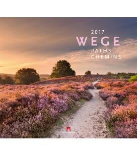 Wall calendar Wege 2017