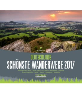 Wall calendar Deutschlands schönste Wanderwege 2017