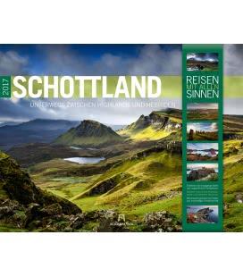 Nástěnný kalendář Skotsko / Schottland 2017
