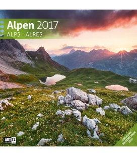 Wall calendar Alpen 30 x 30 cm 2017
