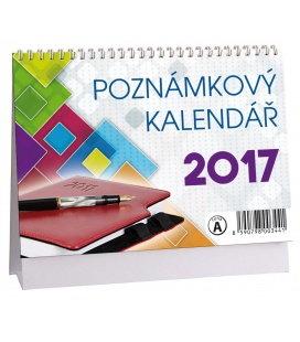 Table calendar Poznámkový MIKRO 2017