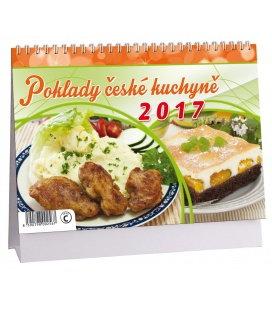 Stolní kalendář Poklady české kuchyně 2017