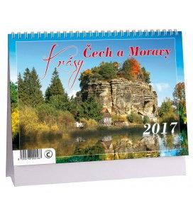 Table calendar Krásy Čech a Moravy + znamení 2017