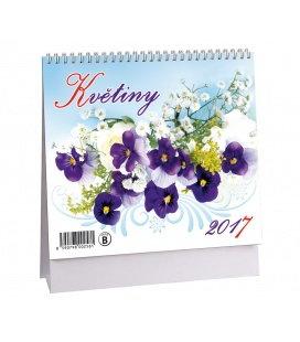 Table calendar Květiny + znamení 2017