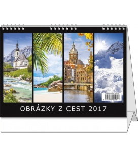 Table calendar - Obrázky z cest 2017