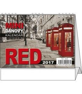 Table calendar - Red - mini daňový 2017