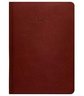 Leather diary A5 weekly Carus hnědý 2017