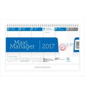 Stolní kalendář Maximanager modrý 2017