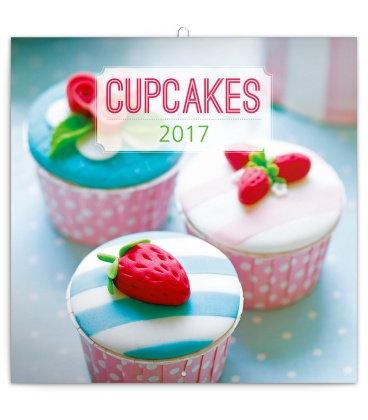 Cupcakes - 2018 Wall Calendar 16 month Premium Square 30x30cm (F)