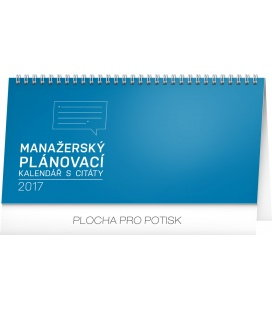 Table calendar Manažerský s citáty 2017