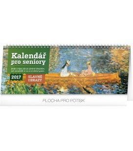 Table calendar Kalendář pro seniory – Slavné obrazy 2017