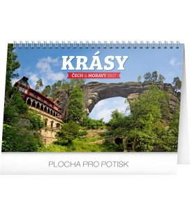 Table calendar Krásy Čech a Moravy 2017