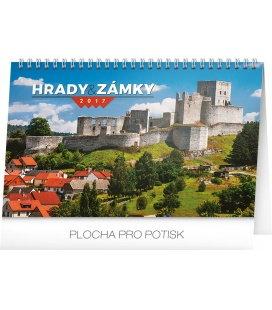 Tischkalender Hrady a zámky 2017