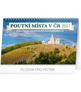 Table calendar Poutní místa v ČR 2017