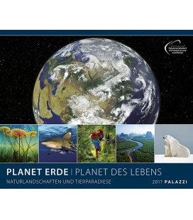 Nástěnný kalendář Planeta Země, planeta života 2017 / PLANET ERDE I PLANET DES LEBENS 2017