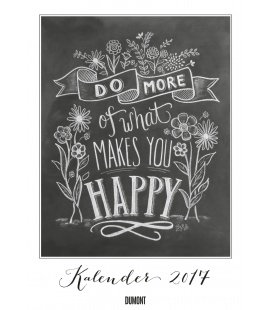 Wall calendar What makes you happy 2017