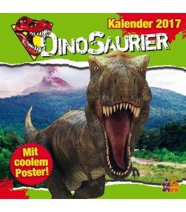 Nástěnný kalendář Dinosauři / Dinosaurier 2017
