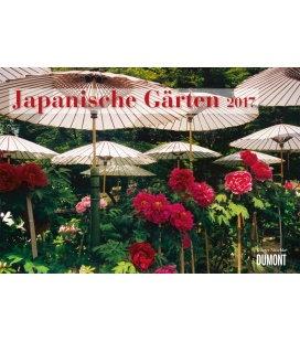 Nástěnný kalendář Japonské zahrady / Japanische Gärten 2017