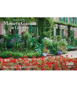 Wall calendar Monets Garten in Giverny 2017