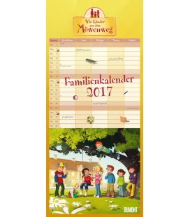 Nástěnný kalendář Rodinný plánovač / FamilienKinder aus d. Möwenweg 2017