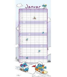 Wall calendar FamilienDie Schlümpfe 2017