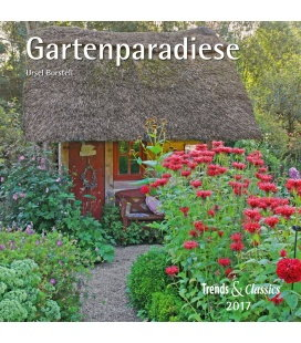 Wandkalender Gartenparadiese T&C 2017