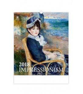Nástěnný kalendář Impressionism 2018