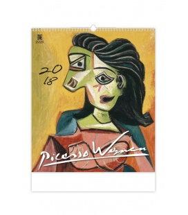 Nástěnný kalendář Pablo Picasso Women 2018