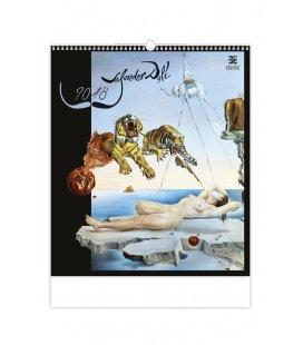 Nástěnný kalendář Salvador Dalí 2018