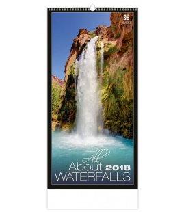 Nástěnný kalendář All about Waterfalls 2018