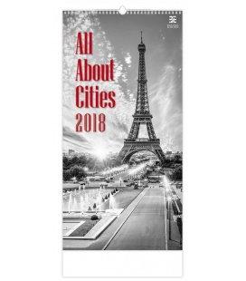 Nástěnný kalendář All About Cities 2018
