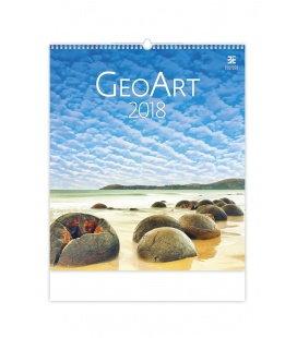 Nástěnný kalendář Geo Art 2018