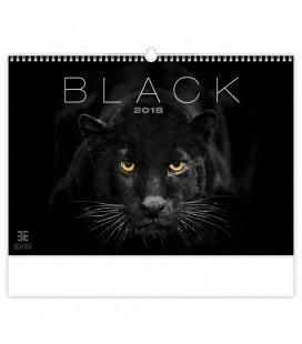Nástěnný kalendář Black 2018