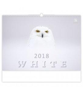 Nástěnný kalendář White 2018