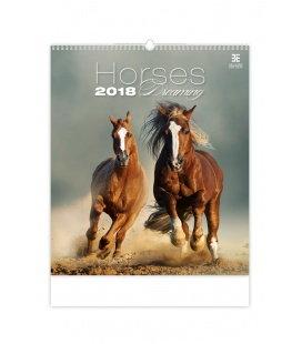 Nástěnný kalendář Horses Dreaming 2018