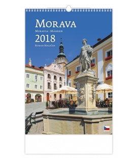 Nástěnný kalendář Morava/Moravia/Mahren 2018