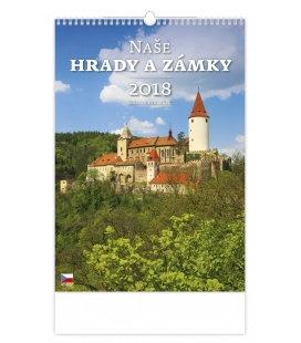 Nástěnný kalendář Naše hrady a zámky 2018
