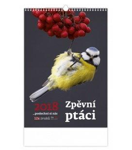 Nástěnný kalendář Zpěvní ptáci 2018