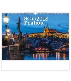 Nástěnný kalendář Noční Prahou 2018