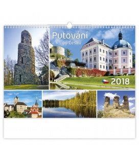 Nástěnný kalendář Putování po Česku 2018