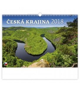 Nástěnný kalendář Česká krajina 2018