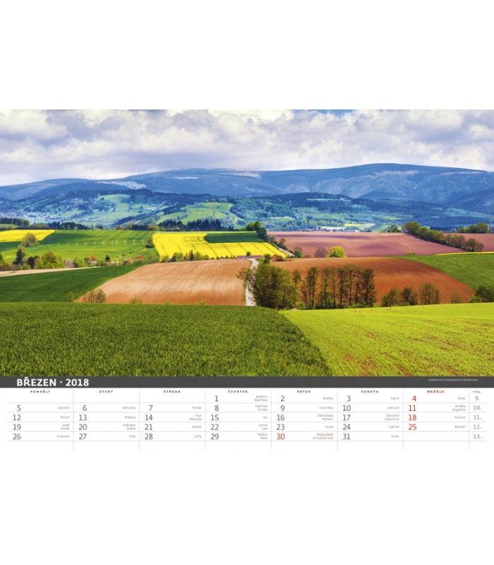 Calendar Landscape : Wall calendar czech landscape
