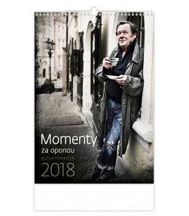 Nástěnný kalendář Momenty za oponou 2018